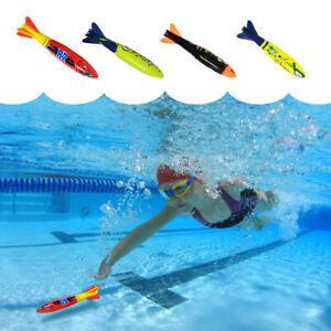 4 PCS Underwater Torpedo Swimming Pool Toy Swim Dive Rocket Diving Weight Sticks
