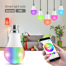 B22 Smart Bulb RGB LED WiFi Light Lamp For Amazon Alexa Echo Remote Control UK