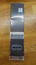 VINTAGE Jewel Platinum Stainless Steel Double Edge Razor Blade Made in Sheffield