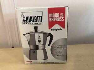 BIALETTI Casa Italia Moka Express Over Top Espresso Maker With Box & Paperwork