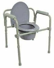 McKesson 146111481 Commode Folding Steel Frame Chair