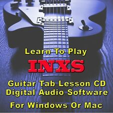 INXS Guitar Tab Lesson CD Software - 14 Songs