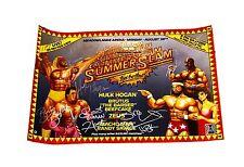 WWE HULK HOGAN SUMMER SLAM HAND SIGNED PPV POSTER WITH HOGAN HOLOGRAM & COA
