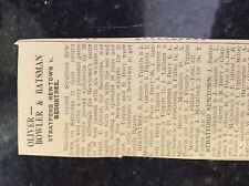 M3-9b ephemera 1941 dagenham ww2 cricket report stratford newtown v becontree e
