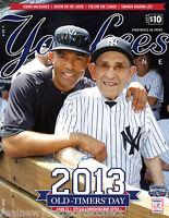 2013 NEW YORK YANKEES OLD TIMER'S DAY PROGRAM MARIANO RIVERA YOGI BERRA