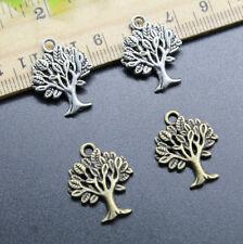 Wholesale Lot 8/20/50pc Jewelry Making DIY Tree Alloy Charm Pendant 21x16mm