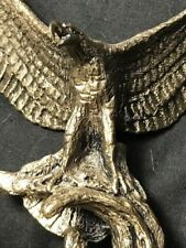 1 Impressive Vintage Small Perched Eagle Outstretched Wings Display Ornament