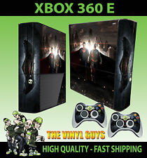 XBOX 360 E BATMAN VS SUPERMAN HEROES STICKER SKIN SUPER SLIM  & 2 PAD SKIN
