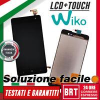 """DISPLAY LCD+TOUCH SCREEN PER WIKO JERRY 5,0"""" SCHERMO VETRO MONITOR NERO BRT 24H!"""
