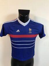 Maillot Foot Enfant Ancien Equipe De France 98 Numéro 10 Zidane Taille 12 Ans