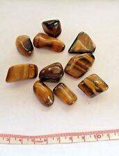 10 x Tigers Eye Tumblestones Gemstones (Polished) - approx  15 - 27 mm