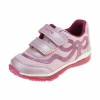 Geox Todo Girls Pink-Fuchsia Trainer size eu kids children hook loop