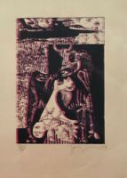 Lithography by Zarza. Untitled,1979. Original signed. Limited Edition
