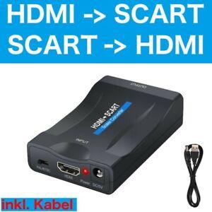 HDMI zu auf Scart Konverter Wandler AV Scaler Converter Adapter 1080P HD TV NEU
