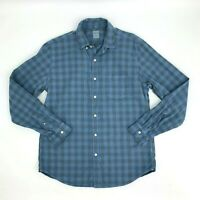 J. Crew Slim Fit Shirt Men Size L Long Sleeve Checkered Plaid Button Down Casual