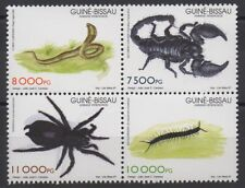 Guinea-Bissau 1997 poisonous animals 4 stamps Mi. 1252 - 1255 MNH ** Scarce !