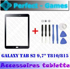 "Samsung Galaxy Tab S2 9,7"" T810 T815 dalle vitre verre glass lens noir + outils"