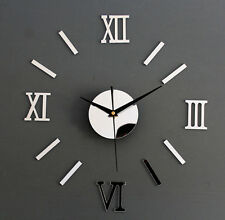 New Hot DIY 3D Clock EVA Foam Materi Decoration Mirror Stickers Art Wall Clock