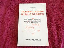 TRANSMUTATIONS BIOLOGIQUES C. Louis  KERVRAN