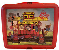 1983 Aladdin THE GET ALONG GANG CLUBHOUSE CABOOSE Plastic Lunchbox