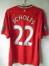 SCHOLES !!! 2011-12 Manchester United Home Shirt Jersey Trikot L