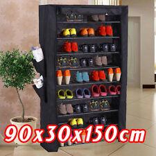 Wardrobe Shoe Rack Shelf 36 Pairs 10 Tier Levels Metal Tube ORGANISER Storage