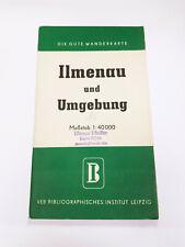 Die Gute Wanderkarte: Ilmenau und Umgebung (Thüringer Wald), DDR 1954