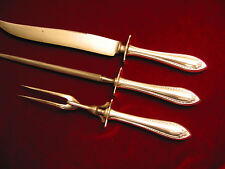 Sheraton Silverplate Carving Set 1910 Vintage Oneida Community Flatware 3pc Lot