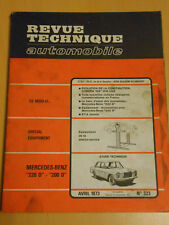 RTA revue technique n° 323 MERCEDES BENZ 200 D / 220 D berline et break