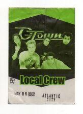 O Town 2002 Tour Working Crew Satin Backstage Pass