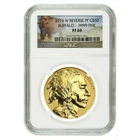 2013 W 1 oz $50 Reverse Proof Gold American Buffalo NGC PF 69