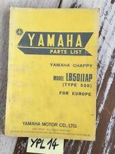 Yamaha Chappy LB50IIAP type 550 catalogue pièces détachées parts list moto