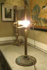 "Antique Miller Solid Brass Lamp 971 - Vintage 2 Socket 18 1/2"" tall"