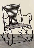 Rocking Chair Joiner 57x80x88cm AUS Iron in Brown Chair Garden NEW