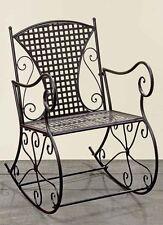Sedia a dondolo Konya 57x80x88cm ferro stiro in marrone sedia Giardino Nuovo