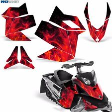 Decal Graphic Kit Ski Doo Rev XP Skidoo Sled Snowmobile Wrap Decal 08-12 ICE R