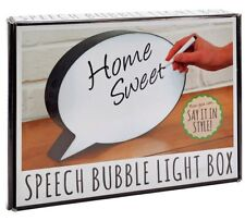 Speech Bubble Light Up Led Box With Marker Pen - For home, Weddings, parties etc