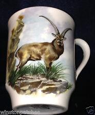 Royal Windsor England Ibex Deer Mug Cup 12 Oz Gold Trim