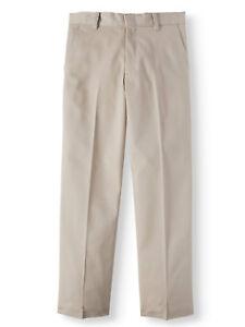 George Boys School Uniform Beige Flat Front Pants Size 10, 14