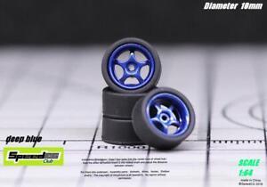 Custom Rubber Wheels Type BL5 For Hotwheels Matchbox Kyosho 1/64 Diecast JDM