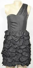H&M DIVIDED EXCLUSIVE Black One Shoulder Dress 8 Gathered Bubble Skirt Party