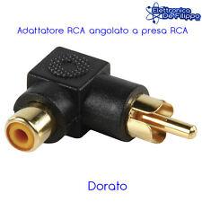 Adattatore RCA angolato a presa RCA dorato