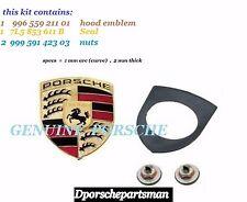 Porsche 911 / Boxster / Cayenne / Cayman Hood Emblem Kit  GENUINE  NEW #NS
