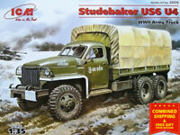 ICM 35514-1/35 Army Truck II MB Studebaker US6 U4  WWII plastic model kit