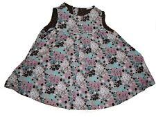 H & M tolles Cord Kleid Gr. 62 beige mit rosa und blauen Blumen Motiven !!