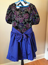 Bonnie Jean NWOT Girls Special Occasion Dress Polyester Blue Size 12 GD69