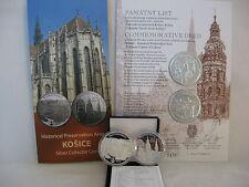 SLOWAKEI 2013 20 EURO SILBER PP PROOF - KULTURHAUPTSTADT KOSICE - ERSTAUSGABE -