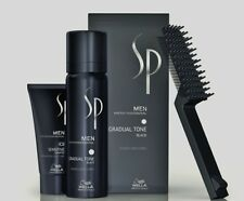 3 x Wella SP Gradual Tone schwarz 60 ml Just Men Pigment Mousse + 30 ml Shampoo