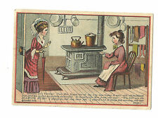 Old Trade Card Diamond Dyes Women Kitchen Colors Back CB Kittredge Dover Maine
