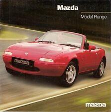 Mazda 1997-98 UK Market Foldout Sales Brochure 121 323 MX-3 MX-5 626 Xedos 6 9